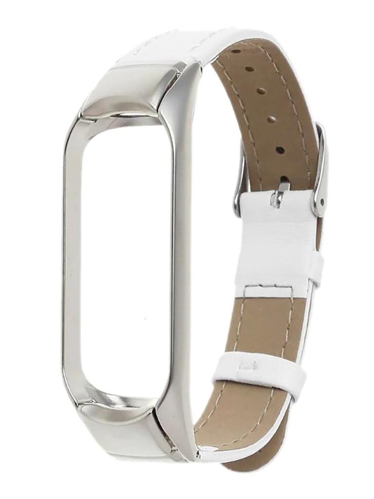 Aксессуар Ремешок Activ для Xiaomi Mi Band 5 Leather White 117552