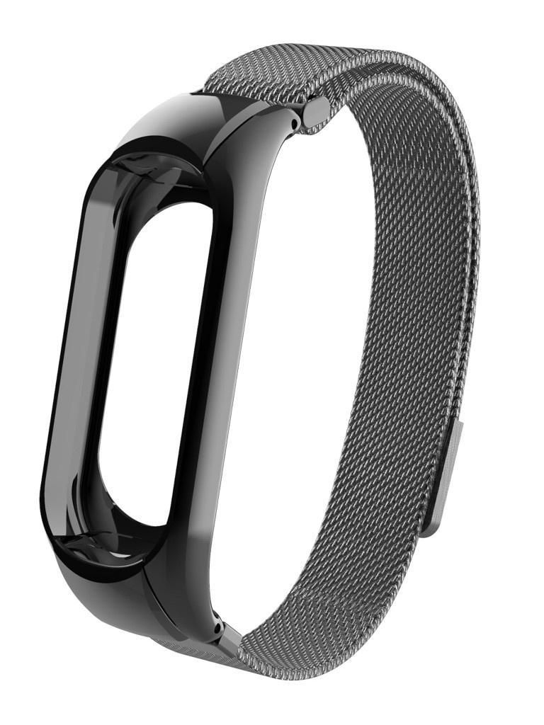 Aксессуар Ремешок Activ для Xiaomi Mi Band 5 Metal Mesh Strap Black 117553