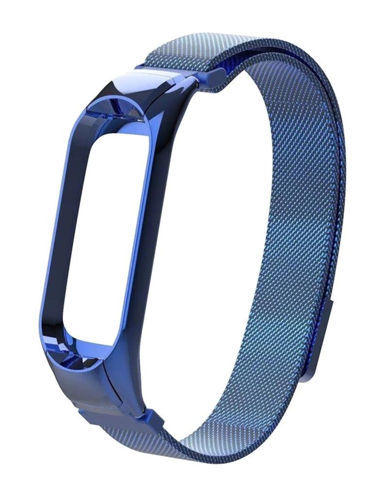 Aксессуар Ремешок Activ для Xiaomi Mi Band 5 Metal Mesh Strap Blue 117554
