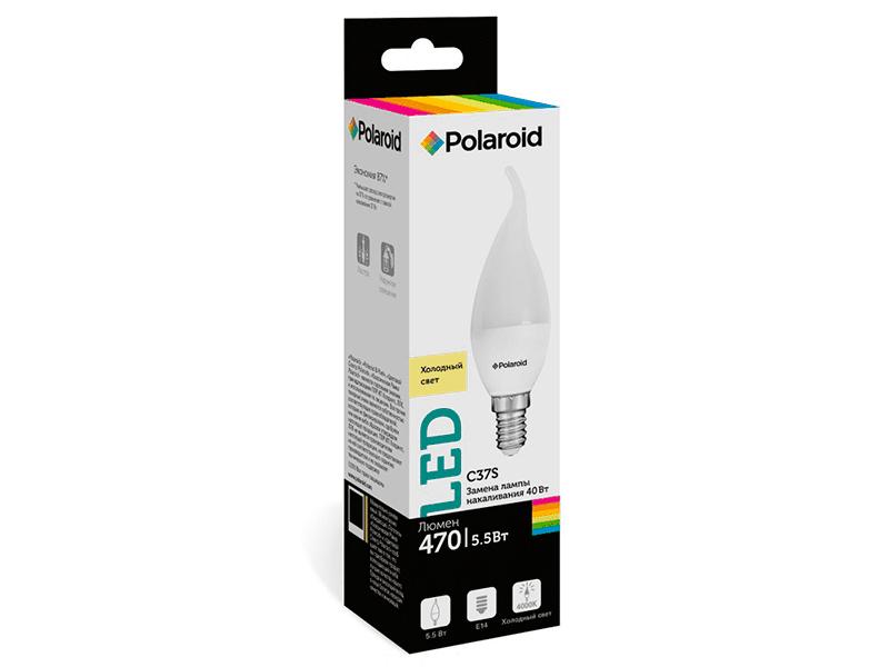 Лампочка Polaroid C37S 5.5W 220V 4000K E14 470lm PL-C37S55144