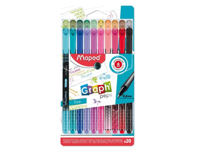 Набор капиллярных ручек Maped Graph Peps 0.4mm 20 цветов 749051