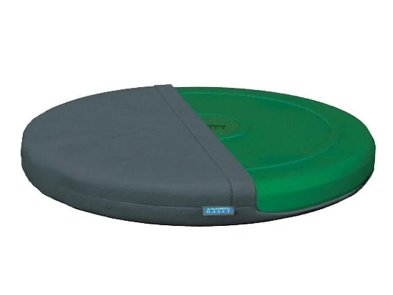 Подушка Альпина Пласт балансировочная Фитдиск Плюс Green + чехол Grey 3280