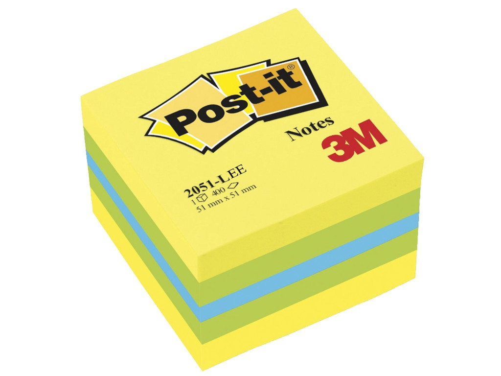 Стикеры 3M Post-IT Original Лимон 51х51mm 400 листов 2051-L