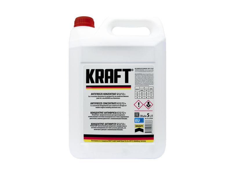 Концентрат антифриза Kraft G12/G12+ 5L KF104