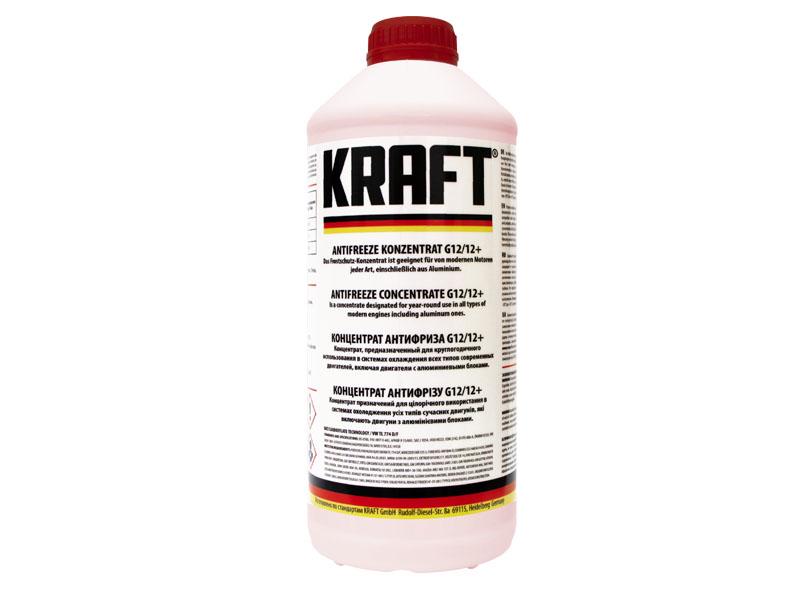 Концентрат антифриза Kraft G12/G12+ 1.5L KF103