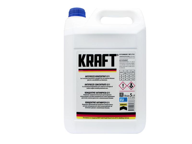 Концентрат антифриза Kraft G11 5L KF102