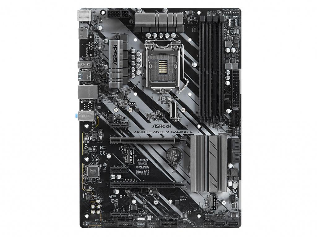 Материнская плата ASRock Z490 Phantom Gaming 4 Выгодный набор + серт. 200Р!!! материнская плата asrock z490 phantom gaming 4 ac