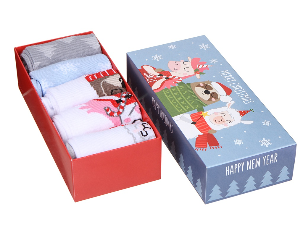 Набор женских носков Kaftan Merry Chistmas размер 36-40