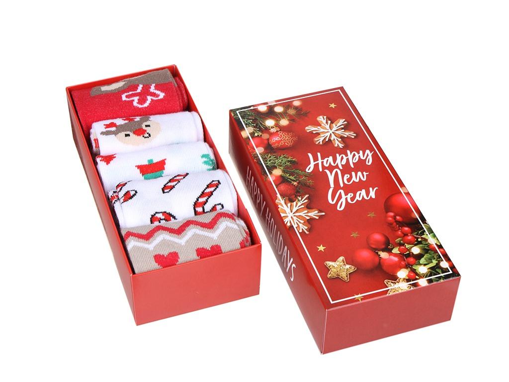 Набор женских носков Kaftan Happy Holidays размер 36-40