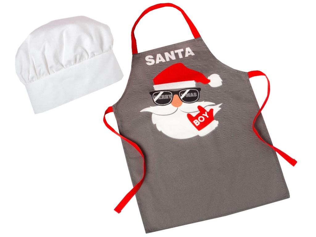 Набор фартук и шапка повара Этель Santa 5181652