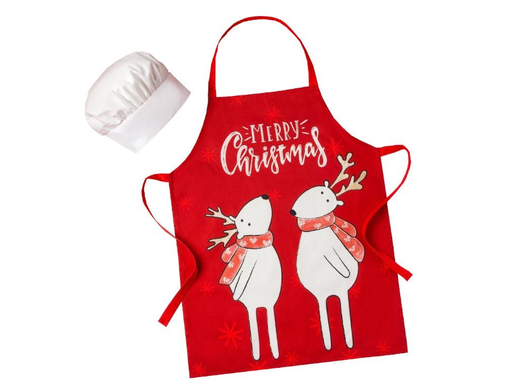 Набор фартук и шапка повара Этель Merry Christmas 5181653
