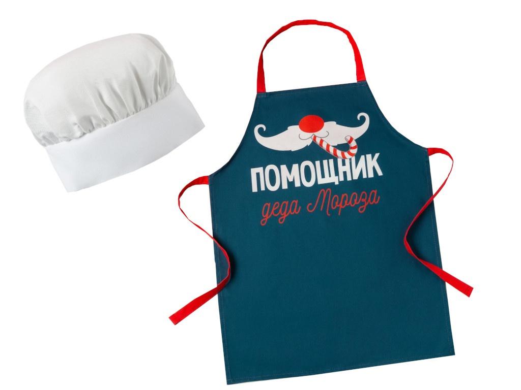 Набор фартук и шапка повара Этель Помощник 5181656