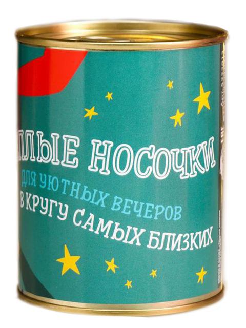 Носки в банке Collorista Тёплые носочки для уютных вечеров 5222913