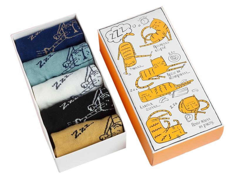 Набор женских носков Kaftan Кот размер 36-39