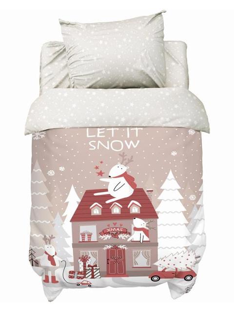 Постельное белье Крошка Я Let It Snow Комплект детский Бязь 4935521