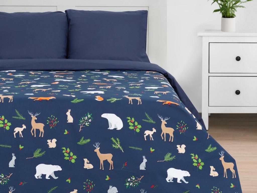 Постельное белье Этель Winter Animals Комплект Дуэт Бязь 4935598