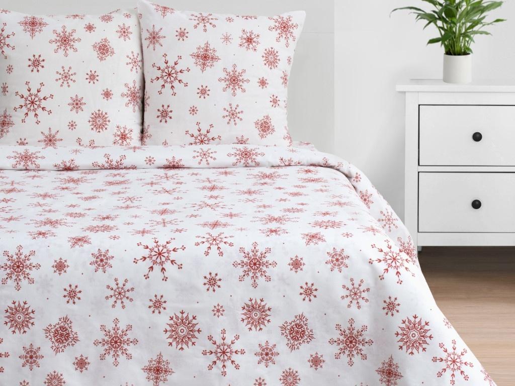 Постельное белье Этель Снежинки Комплект 1.5-спальный Бязь 4492242