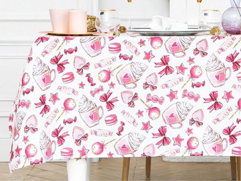 Скатерть Доляна Розовые сладости 220х149cm 4478741