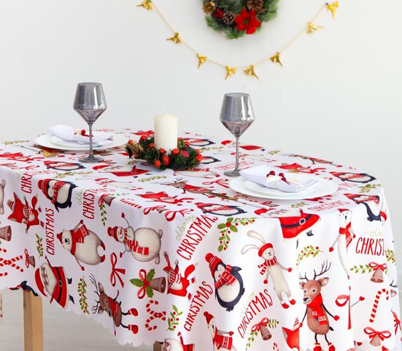 Скатерть Доляна Christmas 145x300cm 4443163