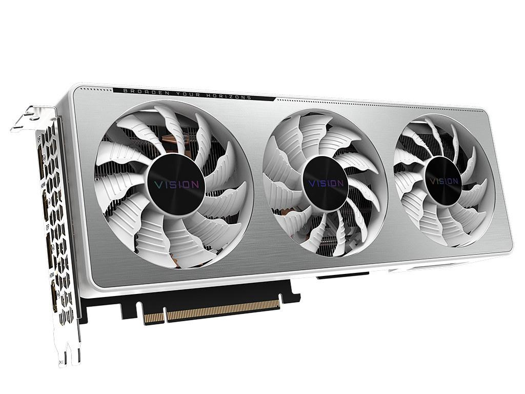 Видеокарта GigaByte GeForce RTX 3070 VISION OC 8G 1815Mhz PCI-E 4.0 8192Mb 14000Mhz 256-bit 2xHDMI 2xDP GV-N3070VISION OC-8GD