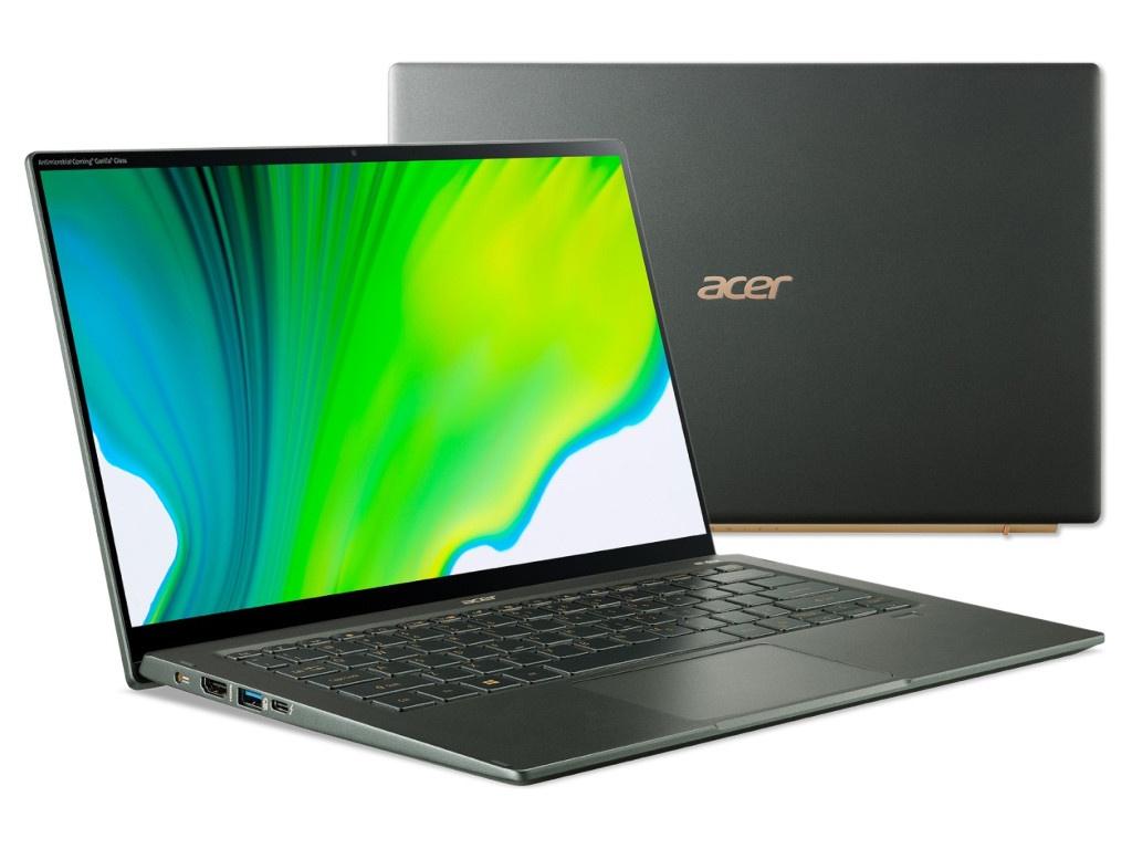 Ноутбук Acer Swift 5 SF514-55GT-73SA NX.HXAER.004 (Intel Core i7-1165G7 2.8GHz/16384Mb/1Tb SSD/NVIDIA GeForce MX350 2048Mb/Wi-Fi/Bluetooth/Cam/14/1920x1080/Windows 10 )