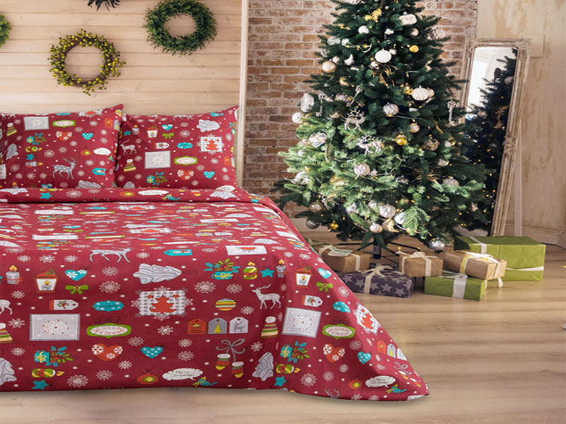 Постельное белье La Marka Home Рождество Red Комплект 1.5 спальный Бязь 37188
