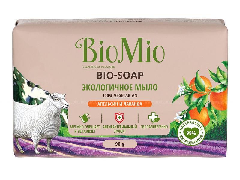 Средство для ухода за телом BioMio Bio-Soap Мыло экологичное Апельсин и лаванда 90g 4012203