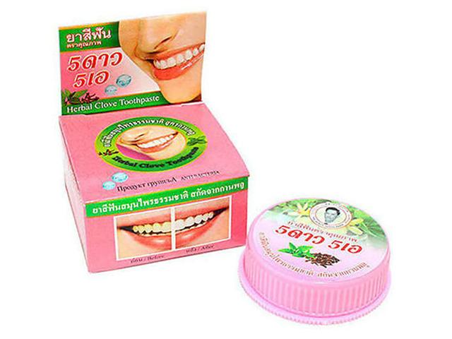 Зубная паста 5 Star Nokthai Травяная отбеливающая с гвоздикой 25g 292711