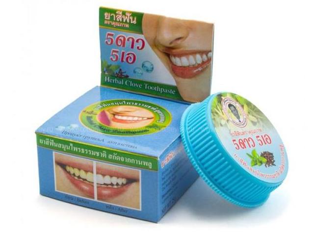 Зубная паста 5 Star Nokthai Травяная отбеливающая оригинальная 25g 292025
