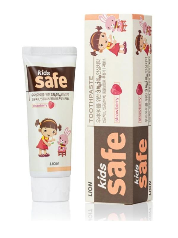 Зубная паста CJ Lion Kids Safe 3-12 лет со вкусом клубники 90g 611486