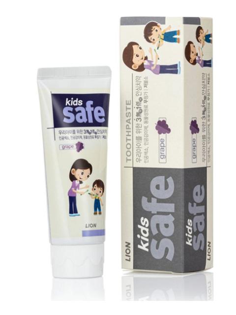 Зубная паста CJ Lion Kids Safe 3-12 лет со вкусом винограда 90g 611493