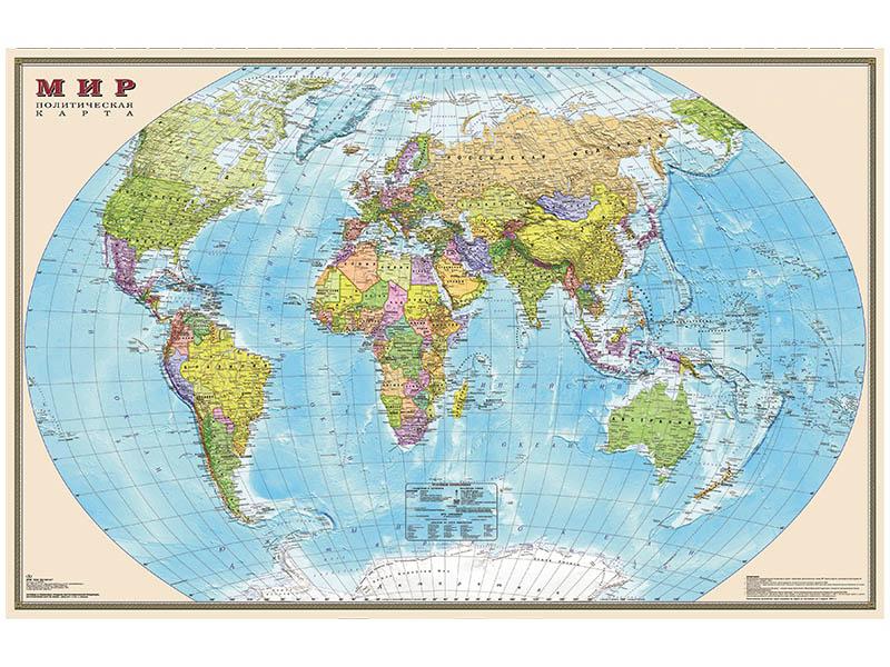 Карта Мир политическая DMB 1220x790mm ОСН1234103