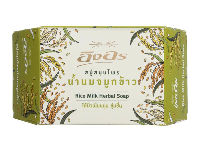 Растительное мыло Ing On с рисовым молочком 7132