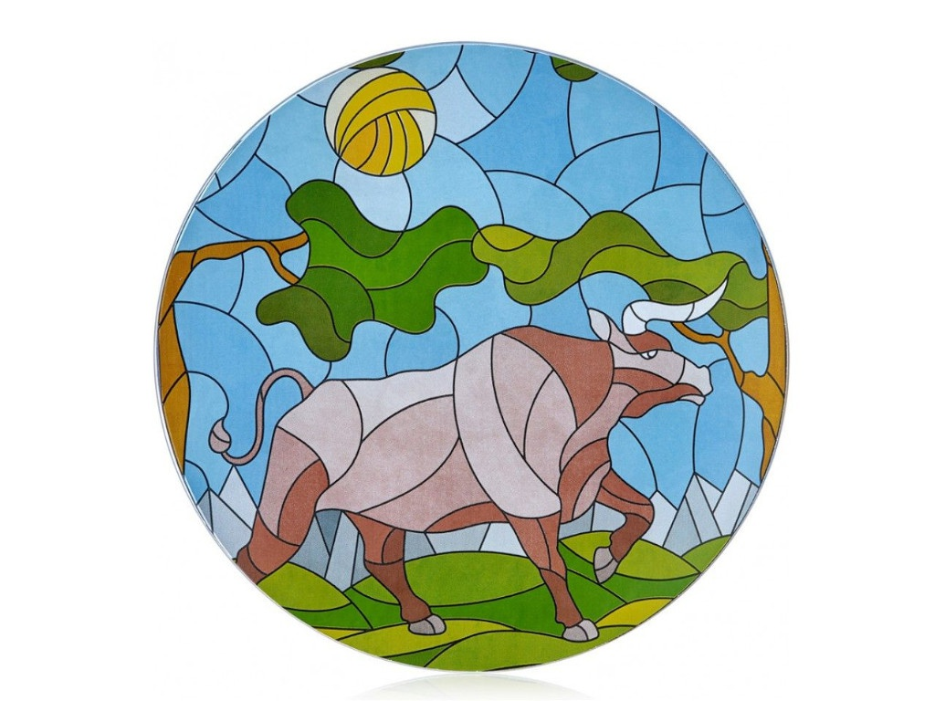 Блюдо Walmer Витраж Бык летом 24cm 22702022