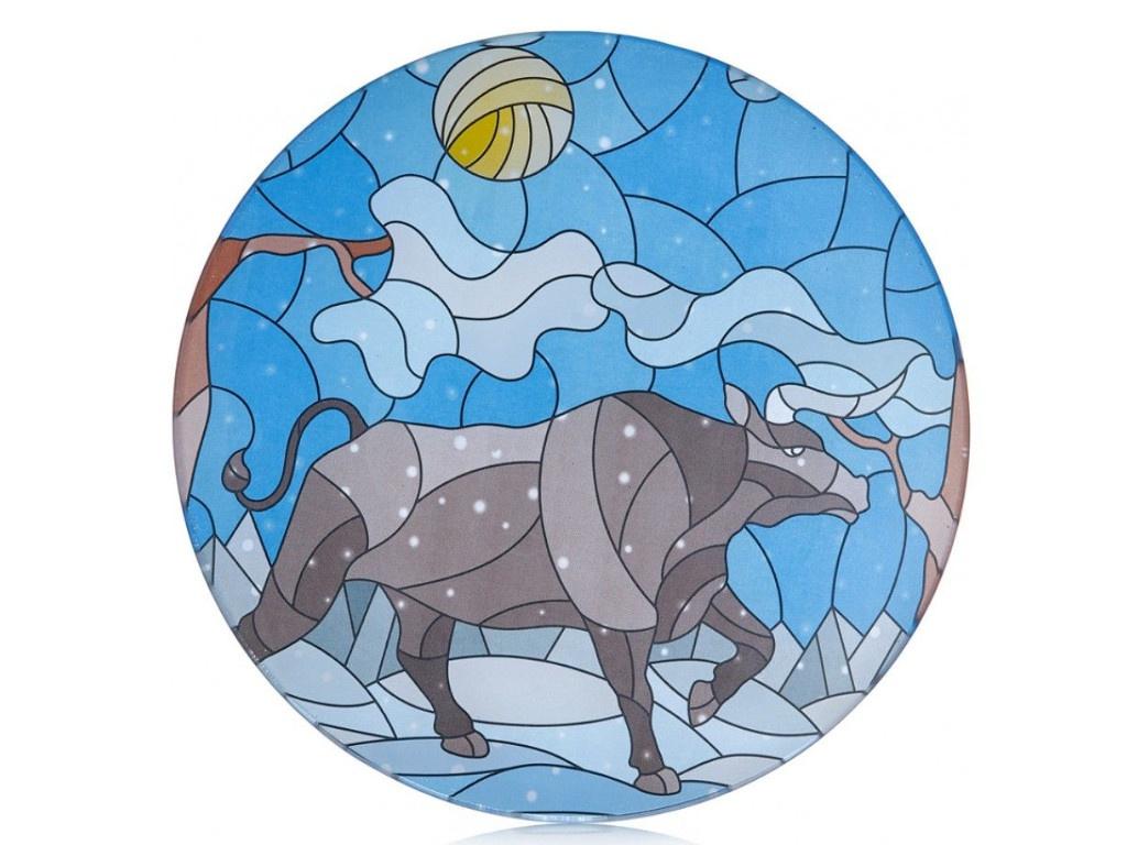 Блюдо Walmer Витраж Бык зимой 24cm 22702023