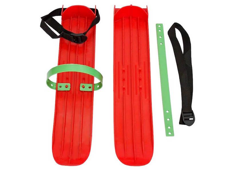 Лыжи Тяни-толкай РТ-2 малые с ремнями Red