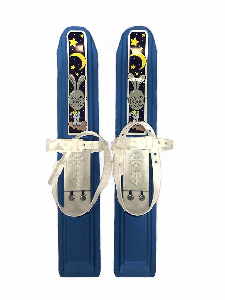 Лыжи Тяни-толкай Мини-лыжи Пингвин-юниор Blue