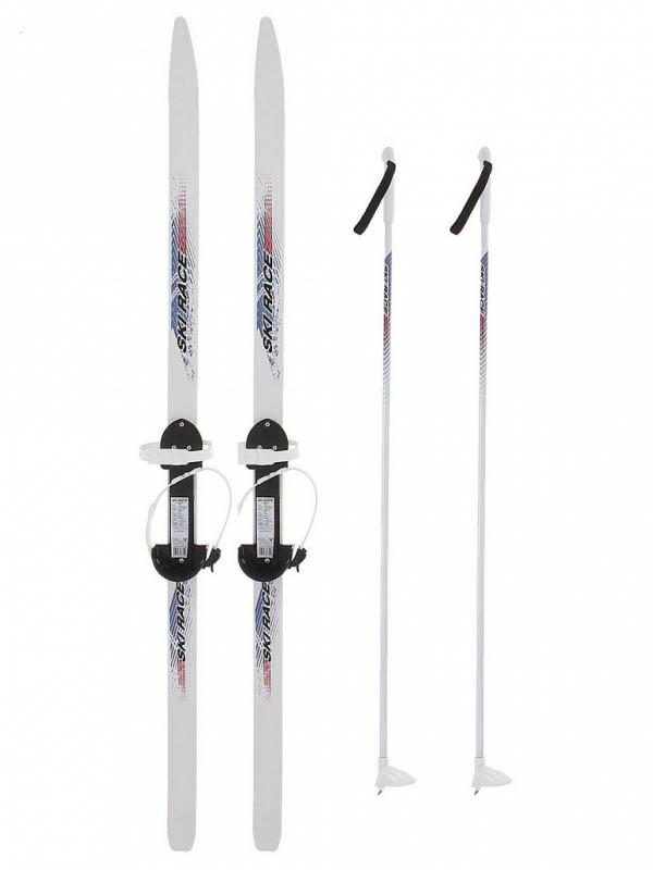 Лыжи Тяни-толкай Ski Race с палками White 120/95