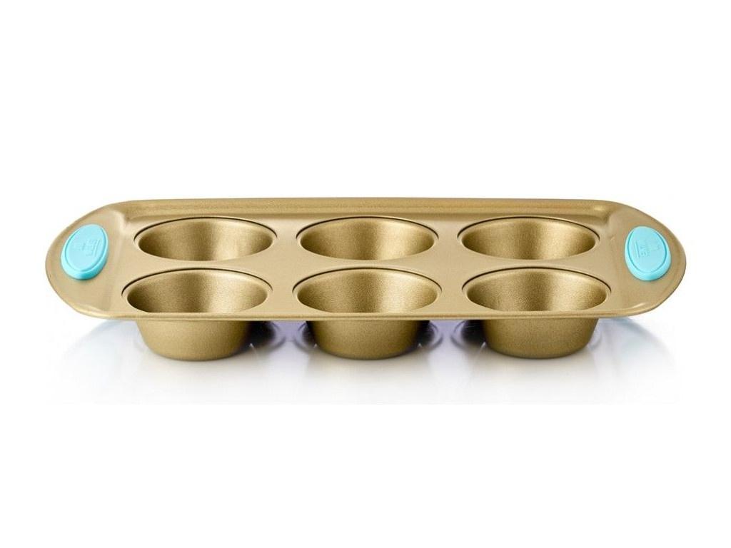 Форма для маффинов Walmer Crown 6шт 32х19cm Gold W08133219