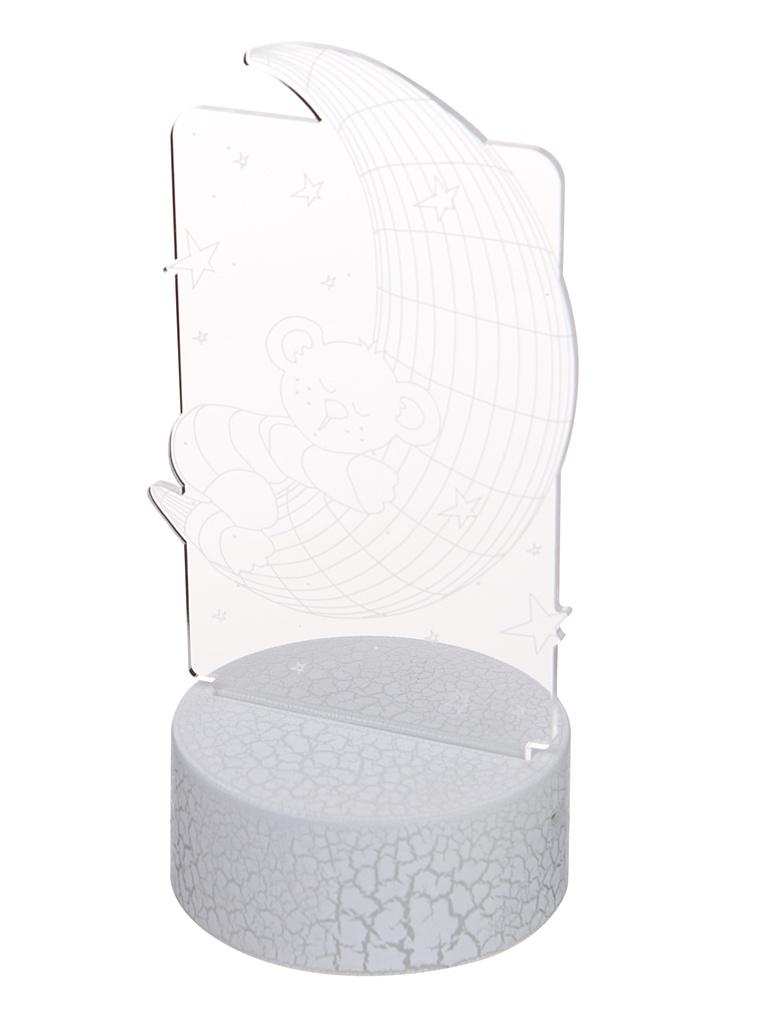 3D лампа Palmexx Луна с медвежонком LED RGB PX/LAMP-017