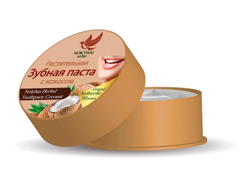 Зубная паста Nokthai Растительная с кокосом 0538
