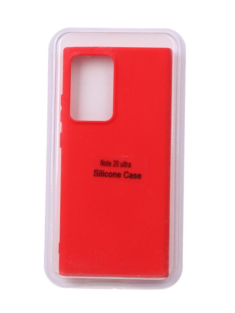 Чехол Innovation для Samsung Galaxy Note 20 Ultra Soft Inside Red 18972
