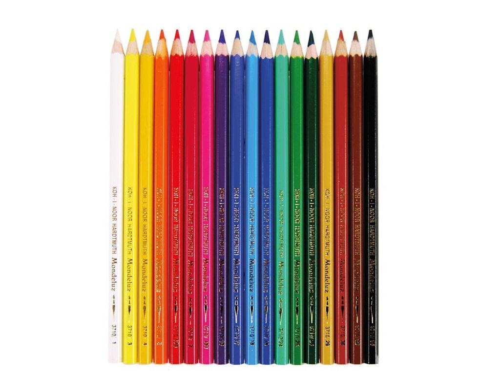 Карандаши цветные Koh-i-Noor Mondeluz 18 цветов 3717018001KSRU карандаши цветные koh i noor кохинор animal животные набор 18 цветов