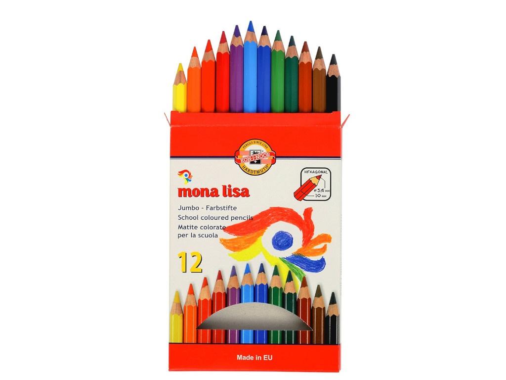 Карандаши цветные Koh-i-Noor Mona Lisa 12 цветов 3372012007KS
