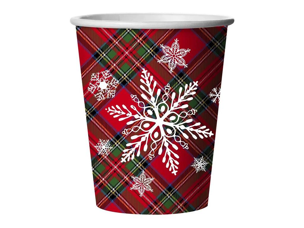 Одноразовые стаканы Gratias Снежная Шотландка 250ml 6шт 4095163