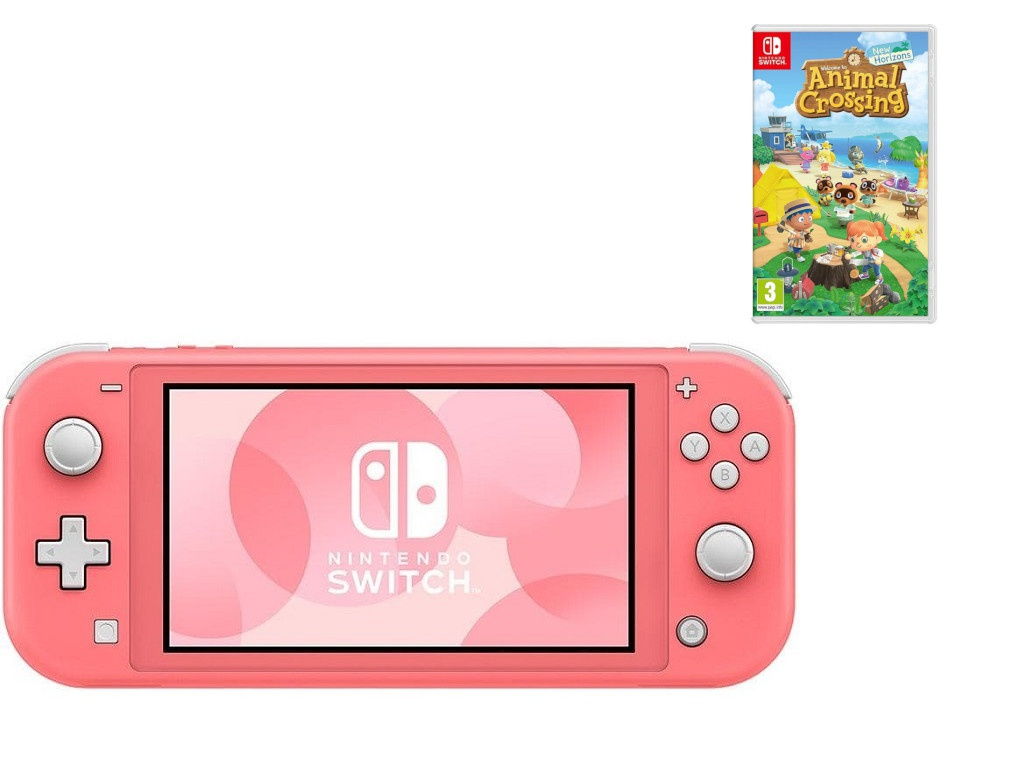 Игровая приставка Nintendo Switch Lite Coral Pink +Animal Crossing New Horizons +Nso 45496453329