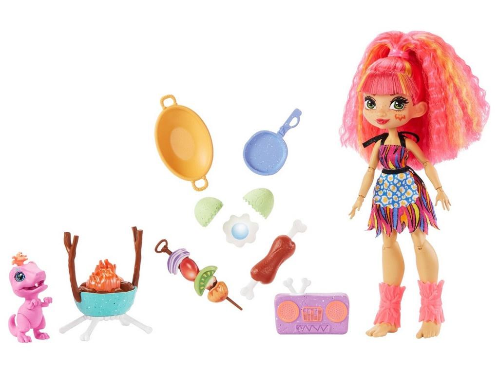 Кукла Mattel Cave Club Эмберли и барбекю GNL96