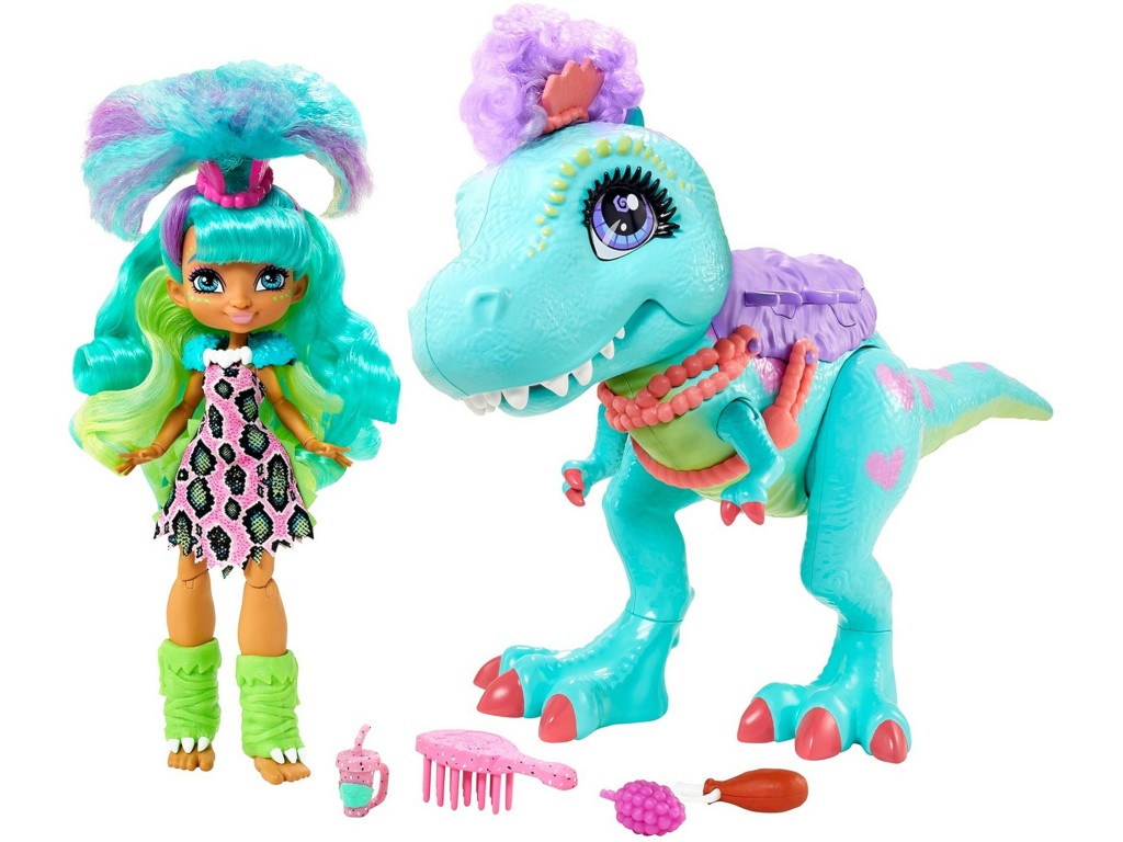 Кукла Mattel Cave Club Рокель и Ти-Рекс GTL69