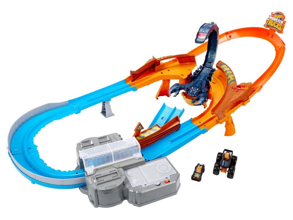 Автотрек Mattel Hot Wheels Монстр-Трак Гонка со скорпионом GNB05