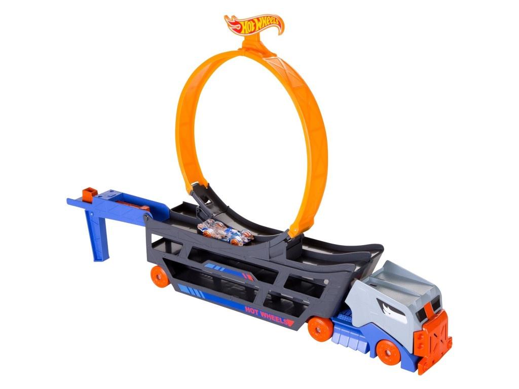 Автотрек Mattel Hot Wheels Трюковой тягач GCK38